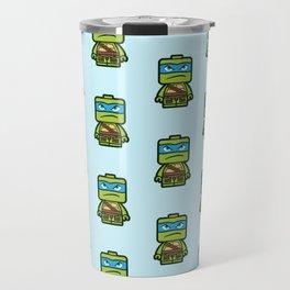 Chibi Leonardo Ninja Turtle Travel Mug