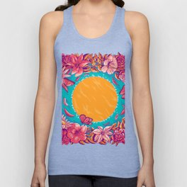 sunset in a lake Unisex Tank Top