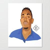 kendrick lamar Canvas Prints featuring Kendrick Lamar by SELS - Sebastian Emilio Luna Sevilla