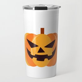Scary Pumpkin Happy Halloween Travel Mug