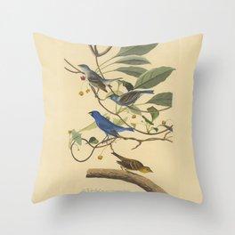 AUDUBON Bird Print INDIGO Bird Throw Pillow