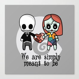 Jack and Sally - We are simply meant to be Canvas Print