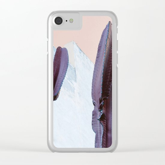 Pastel Cactus Clear iPhone Case