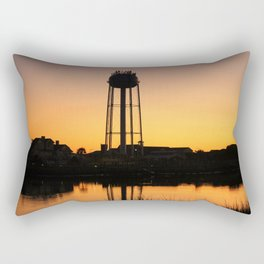 Water Tower At Sunset Rectangular Pillow