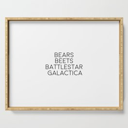 Bear Beets Battlestar Galactica, Funny Art Serving Tray