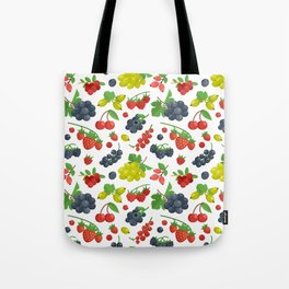 Colorful Berries Pattern Tote Bag