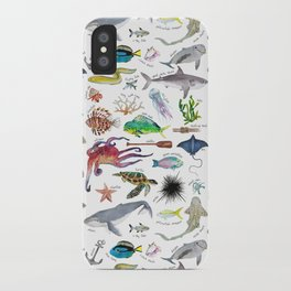 Under the Sea Alphabet iPhone Case