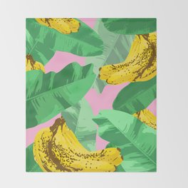 Banana Forest Throw Blanket
