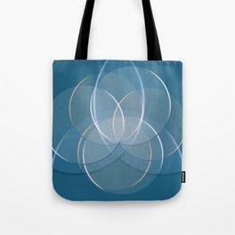 Blue Yoga Lotus Tote Bag
