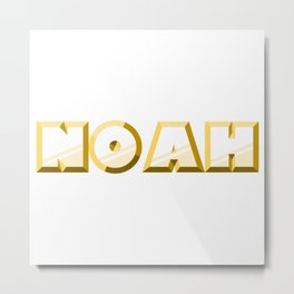 """NOAH"" first name yellow pattern Metal Print"