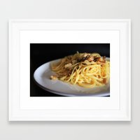 pasta Framed Art Prints featuring Pasta by alemazza