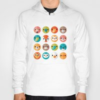 faces Hoodies featuring SMILEY FACES 1 by Daisy Beatrice