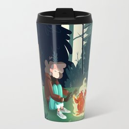 The flaming monkey in the woods Travel Mug