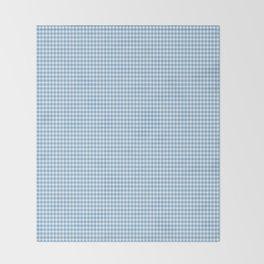 Blue Micro-Snowflake Pattern Throw Blanket