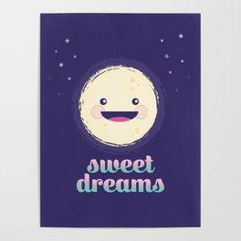 Sweet Dreams Moon Poster