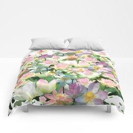 Lotus bloom Comforters