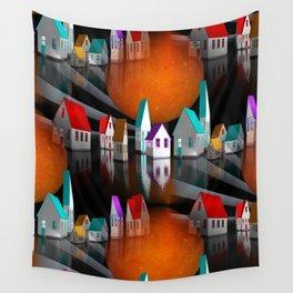 a seamless geometric horizon -3- Wall Tapestry