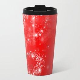Elegant red white abstract Christmas pattern Travel Mug