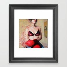 Red gloves Framed Art Print
