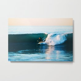 Warm Surf Metal Print