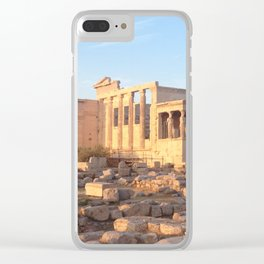 The Acropolis in Athens, Greece Clear iPhone Case