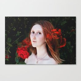 Rose portrait Canvas Print