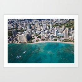 Waikiki Beach, Hawaii Art Print