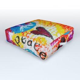Peace and Love Outdoor Floor Cushion