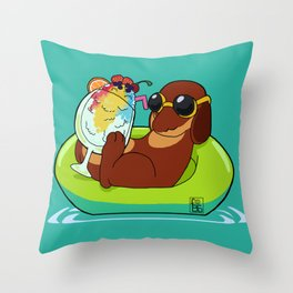 Chillin' Dog Throw Pillow