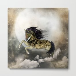 Awesome fantasy horse with skulls Metal Print
