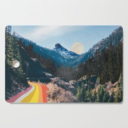 1960's Style Mountain Collage Cutting Board