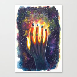 Hand study #4. Touch the stars Canvas Print