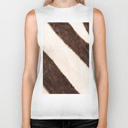 Zebra - stripes - #society6 #buyart #decor Biker Tank