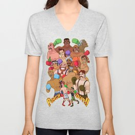 Punch-Out!! Unisex V-Neck