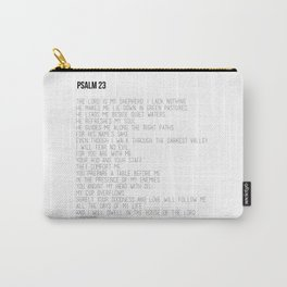 Psalm 23 #minimalist Carry-All Pouch