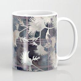 Thistle Flower Felted Plaid Pattern Coffee Mug