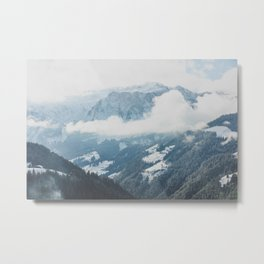 In the Valley of Mountains Metal Print