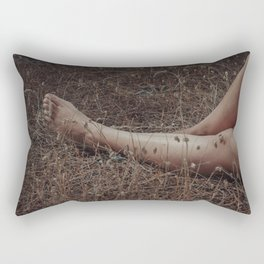 Nymph resting in the forest Rectangular Pillow