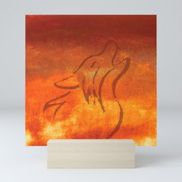 Howling Wolf on Desert Varnish Mini Art Print