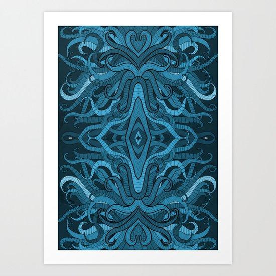Blue Flow Art Print