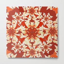 Digital Decorative Floral Pattern Metal Print