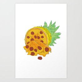 Pizza Pineapple Art Print