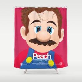 Peach - 'Her' parody movie poster Shower Curtain