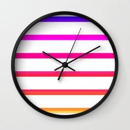 Warm lines Wall Clock