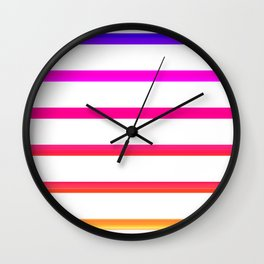 Warm lines Wall Clock