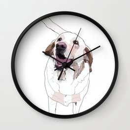 Labrador Dog (white) Wall Clock