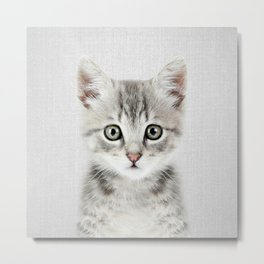 Kitten - Colorful Metal Print