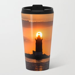 Lighthouse Sunset Travel Mug