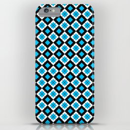 check it blue iPhone Case