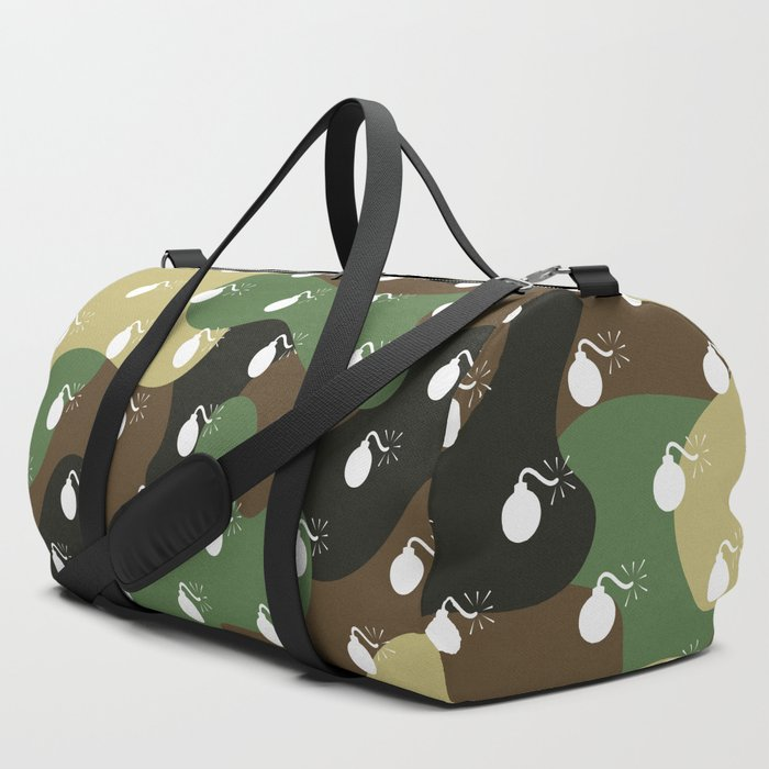 BOMB_PATTERN__CAMO_&_WHITE__LARGE_Duffle_Bag_by_Character_Assassination__SET_OF_3